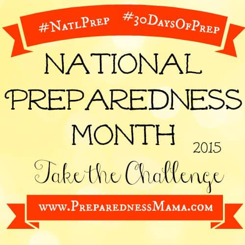 National Preparedness Month 2015 | PreparednessMama