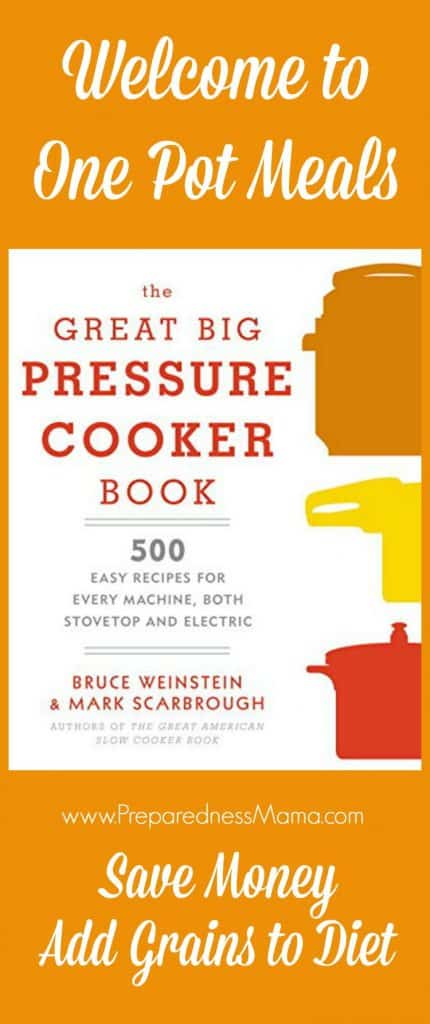 Enjoy healthy one pot meals with the recipes in the Great Big Pressure Cooker Book | PreparednessMama