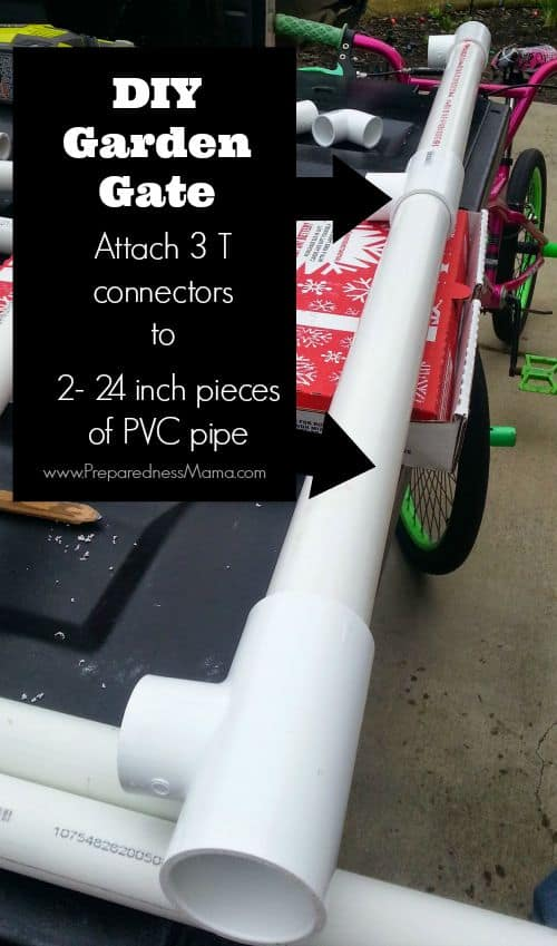 Connect the pieces on your DIY Garden Gate | PreparednessMama