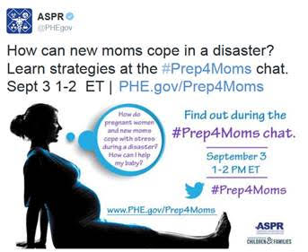 Join the conversation #Prep4Moms  on September 3, 2015 at 1PM ET | PreparednessMama