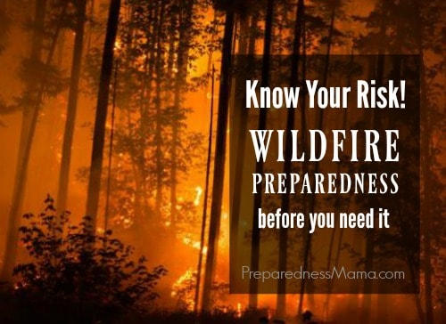If you live in an area that is susceptible to wildfire, it can be scary. Your best course of action is to know the risk, be aware and prepare for wildfires | PreparednessMama