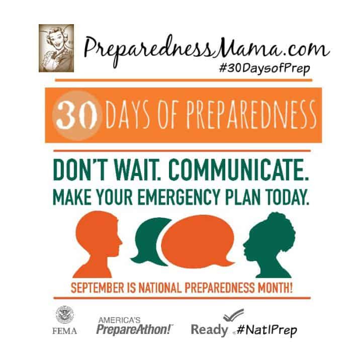 30 Days of Preparedness 2015