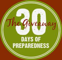 30 Days of Preparedness Giveaway September 2015 #30DaysofPrep  PreparednessMama