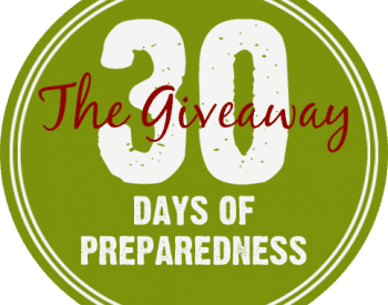 30 Days of Preparedness Giveaway September 2015 #30DaysofPrep| PreparednessMama