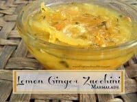 Lemon Ginger Zucchini Marmalade #OrganicHarvest15 | PreparednessMama