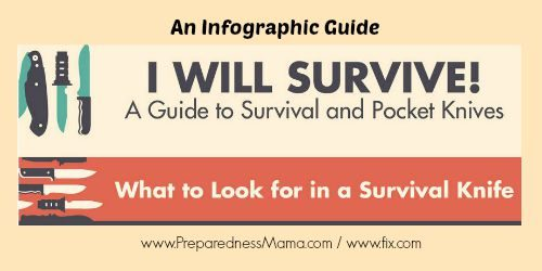 An infographic guide to pocket knives - You WIll Survive! | PreparednessMama