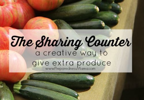 The Sharing Counter: a creative way to give extra produce #OrganicHarvest15 | PreparednessMama