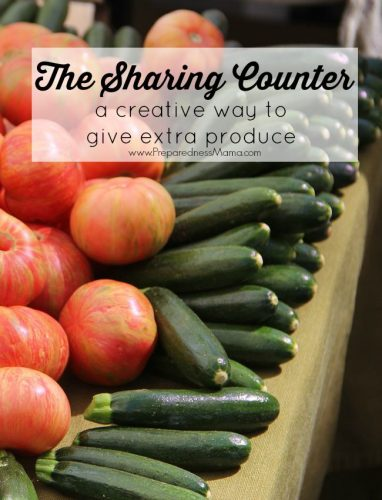 Start a sharing counter at work or church and use this creative way to share extra produce with your friends | PreparednessMama
