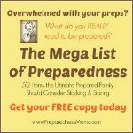 The Mega List of Preparedness - Get your copy today | PreparednessMama