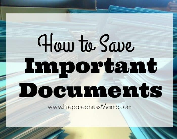 How to Save Important Documents