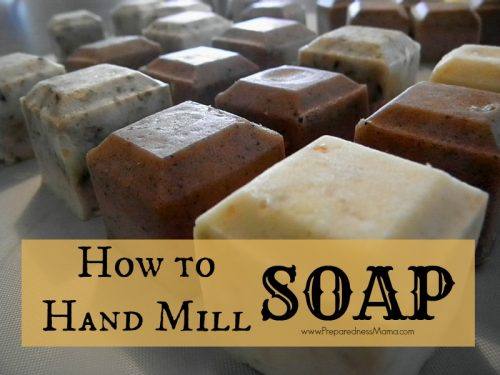 How to hand mill soap from homemade or purchased soap | PreparednessMama
