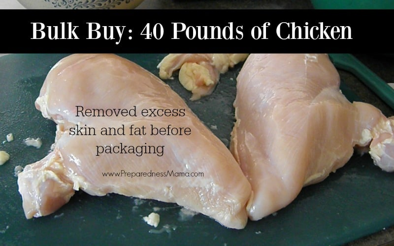 When buying chicken in bulk I like to remove all the skin and fat before packaging | PreparednessMama