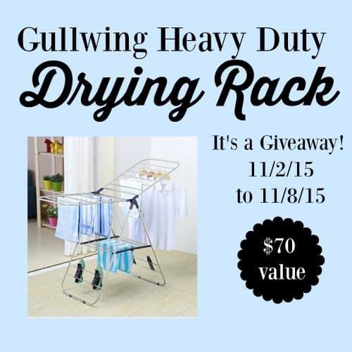 Gullwing Heavy Duty Drying Rack Giveaway