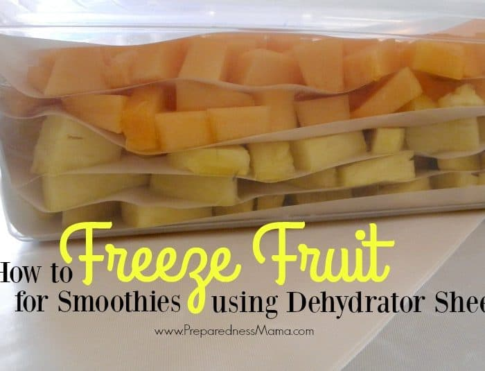 How to Freeze Fruit for Smoothies Using Dehydrator Sheets