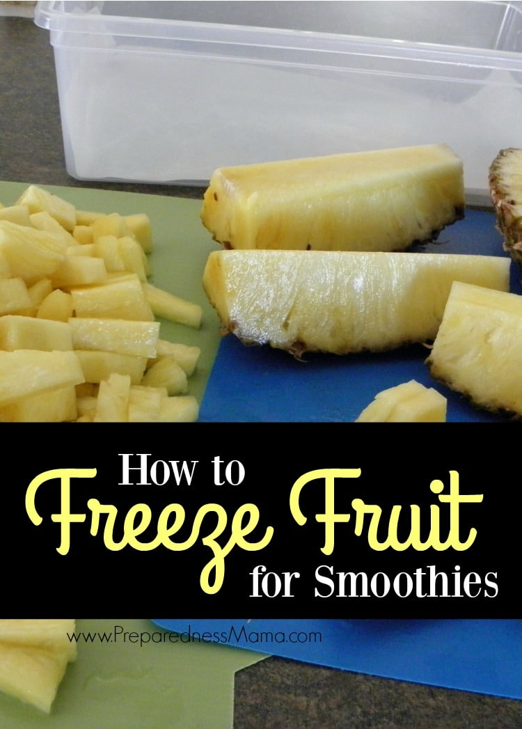 How to freeze fruit for smoothies using non-stick dehydrator sheets   PreparednessMama