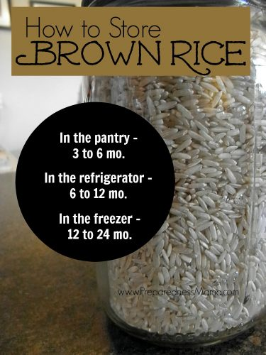 How to store brown rice | PreparednessMama