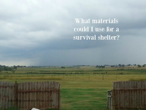 Could I create a survival shelter from materials in my yard? PreparednessMama