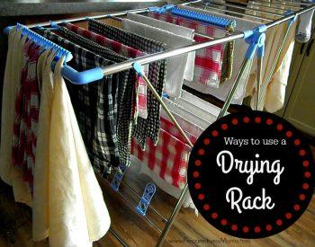Ways to use a drying rack | PreparednessMama