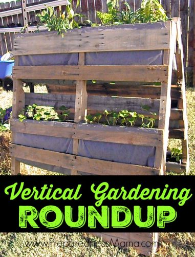 Vertical Gardening Roundup: The A-Frame Pallet Planter: Detailed building plans and planting instructions for creating a big garden in a small space | PreparednessMama