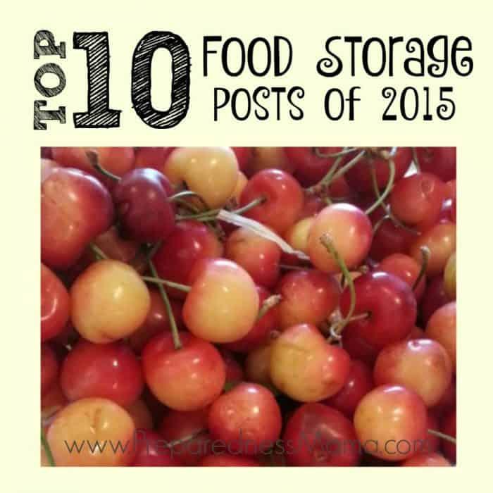 Top 10 Food Storage Posts of 2015