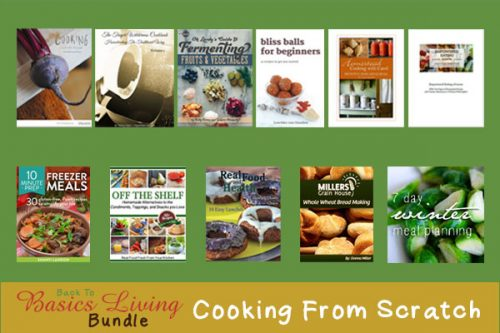 Getting out of my dinner planning rut with the Cooking From Scratch books being offered in the Back to Basics Living Bundle | PreparednessMama