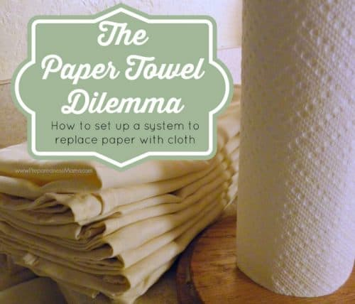 The paper towel dilemma. How to replace paper towels with cloth rags and napkins | PreparednessMama