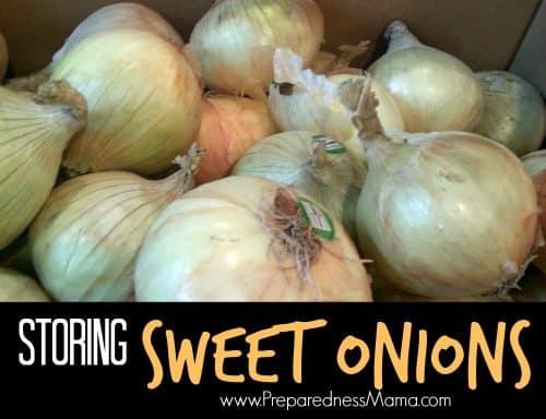 Storing sweet onions | PreparednessMama