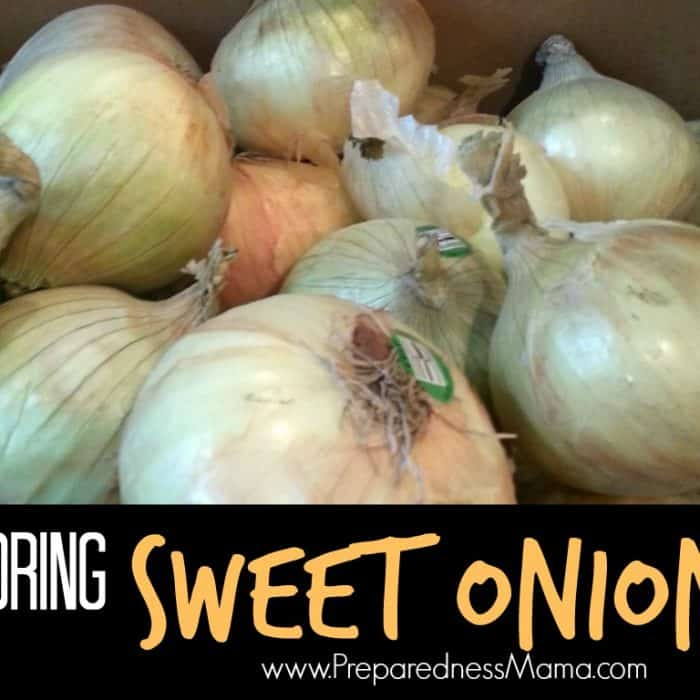 Storing Sweet Onions
