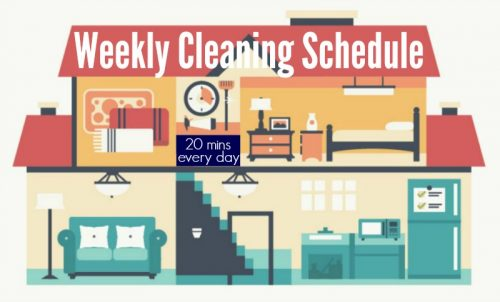Make your own personalized weekly cleaning schedule and never spring clean again | PreparednessMama