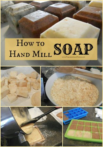 Don't throw it away! How to make hand milled soap from leftover soap scraps | PreparednessMama