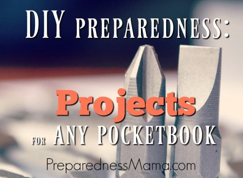 Here are some of our favorite DIY preparedness projects to get you started. Pick one to complete each week or choose a larger project for each month. Each step toward self-reliance is one less reason to be concerned about the future | PreparednessMama