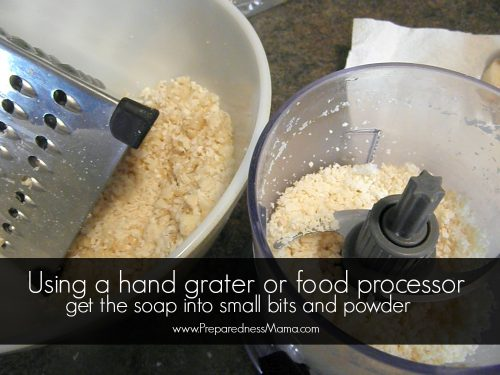 Hand Milling Soap: Using a hand grater or food processor, turn your soap bits into a powder | PreparednessMama