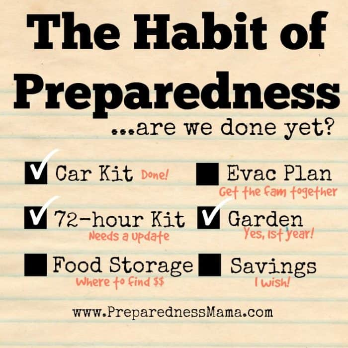 The Habit of Preparedness