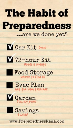 Getting into the groove with the habit of preparedness | PreparednessMama