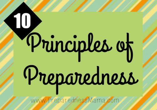 Use the 10 principles of preparedness to greate your foundation | PreparednessMama