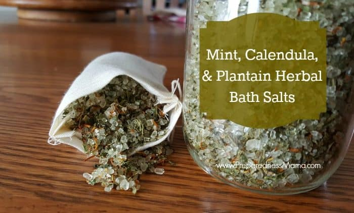 Mint, Calendula, & Plantain Herbal Bath Salts