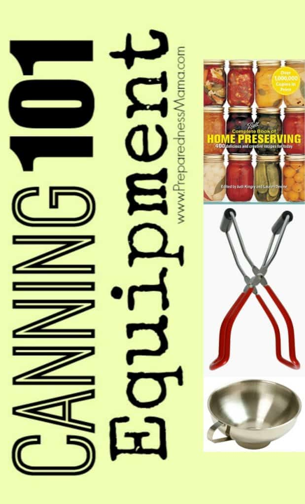 Where should you begin? Most items suitable for canning can already be found in your kitchen. Next look at garage sales and then follow our recommendations. For under $50 you can have the tools to preserve your own food | PreparednessMama