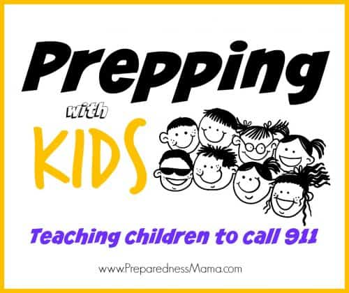 Teaching kids to call 911 is an important preparedness step to keep them safe. Ideas to get you started | PreparednessMama
