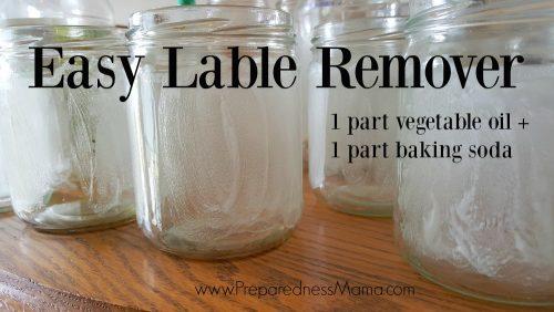 To repurpose glass jars use this easy label remover recipe | PreparednessMama