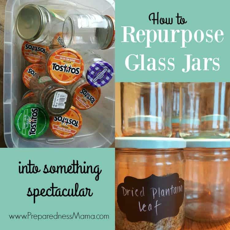 How To Repurpose Glass Jars Preparednessmama