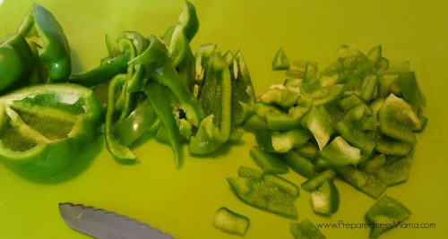 Prepare the sweet peppers for dehydrating   PreparednessMama