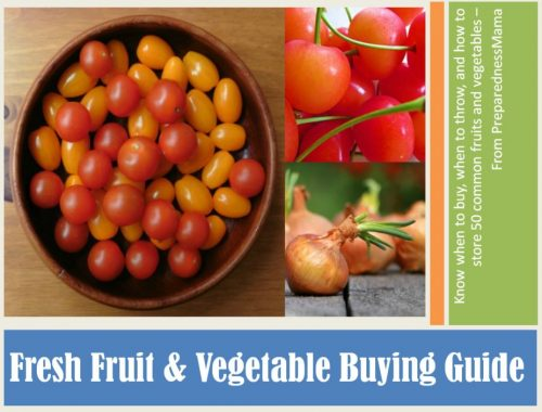 The Fresh Fruit and Vegetable Guide from PreparednessMama