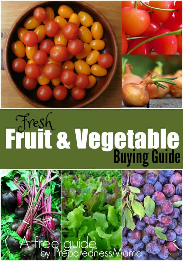 Do you know the best way to store 50+ common fruits and veggies? Get The fresh fruit and vegetable buying guide. A free download from PreparednessMama