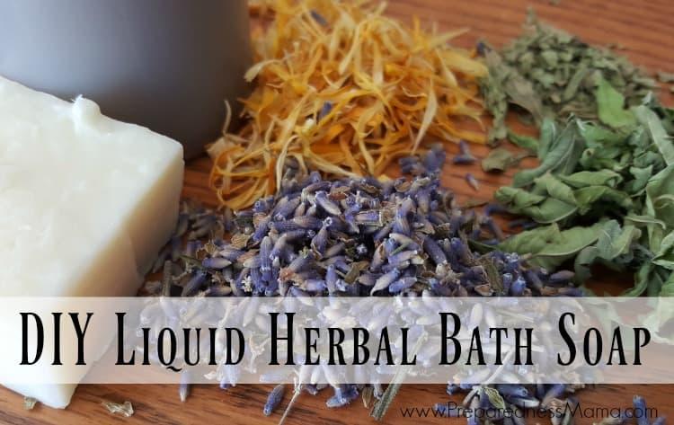 Diy Liquid Herbal Bath Soap Preparednessmama