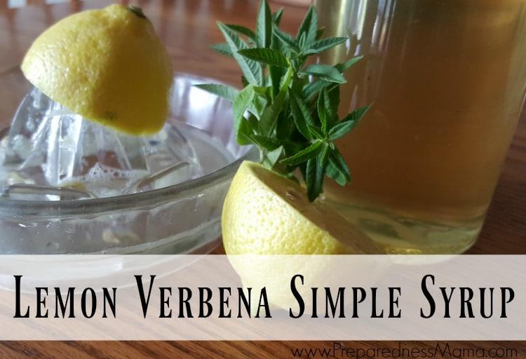 Lemon Verbena Simple Syrup Preparednessmama