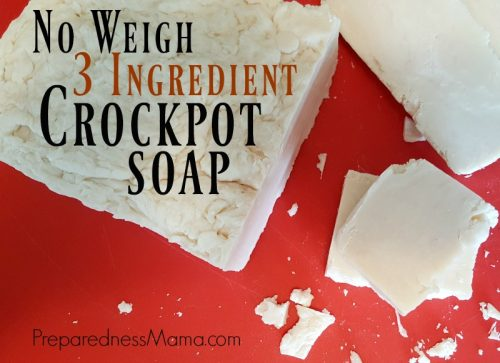 No weigh 3 ingredient croclpot soap using the hot process method | PreparednessMama