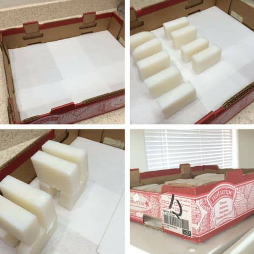 5 Everyday items you can use for cutting and curing your homemade soap - Usa a box for a curing tray | PreparednessMama