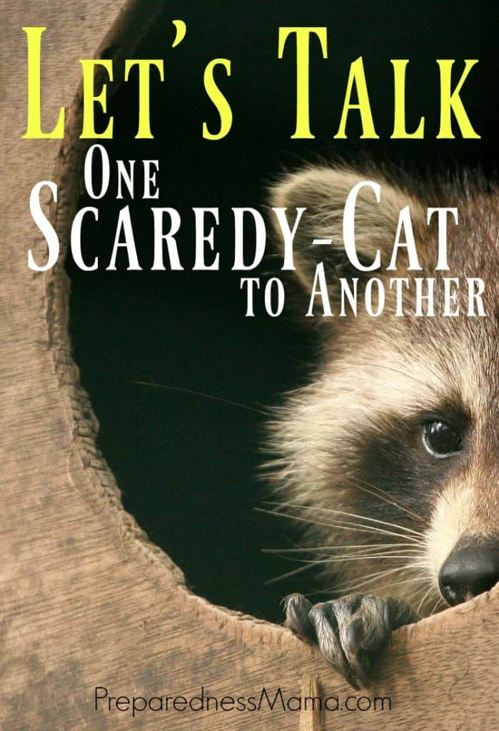 Let's talk - one scaredy cat to another. How to do you manage? | PreparednessMama