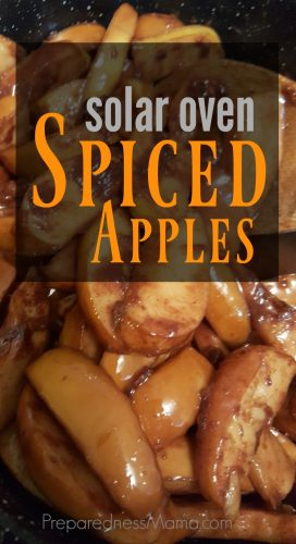 Solar Oven Spiced Apples in the Solavore Solar Oven | PreparednessMama