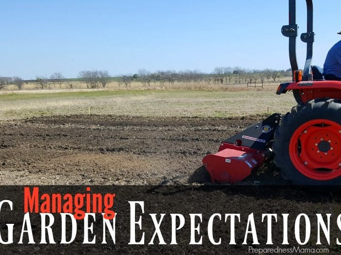 Managing Garden Expectations